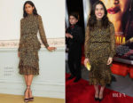 Fashion Blogger Catherine Kallon Features America Ferrera In Saloni - 'Miss Bala' LA Premiere