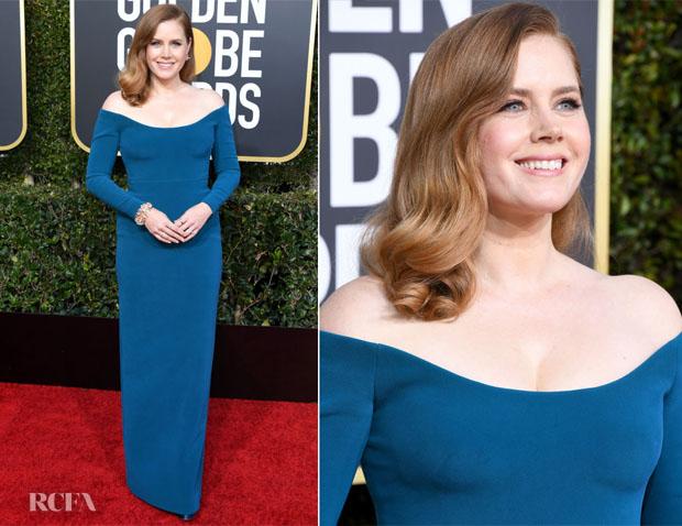 Fashion Blogger Catherine Kallon features Amy Adams In Calvin Klein - 2019 Golden Globe Awards