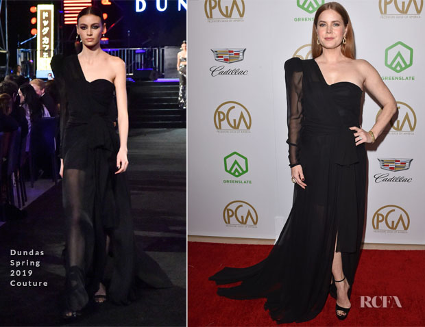 Amy Adams In Dundas Couture - 2019 Producers Guild Awards
