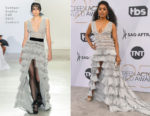 Fashion Blogger Catherine Kallon features Angela Bassett In Georges Chakra Couture - 2019 SAG Awards