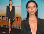 Fashion Blogger Catherine Kallon features Angela Sarafyan In Julien Macdonald - Premiere Of HBO's 'True Detective' Season 3