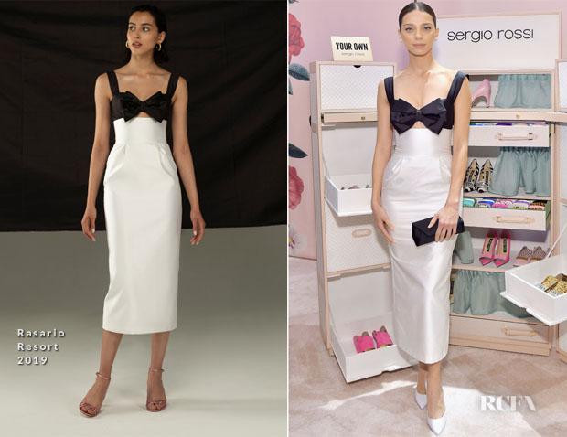 Fashion Blogger Catherine Kallon features Angela Sarafyan In Rasario - Sergio Rossi & Elizabeth Stewart Celebrate Capsule Collection