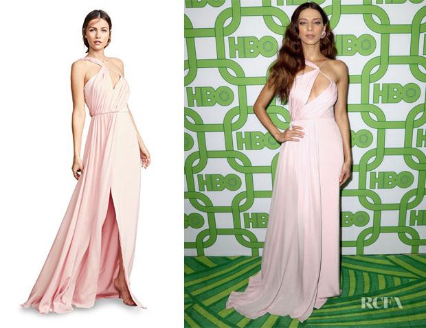 Angela Sarafyan's Cushnie Pink Gown