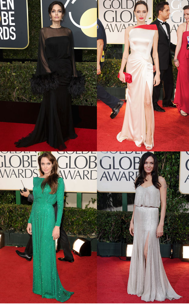 78adc233ef Angelina Jolie's Best Atelier Versace Moments At The Golden Globe Awards