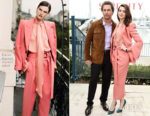 Fashion Blogger Catherine Kallon features Anne Hathaway In Petar Petrov - 'Serenity' LA Photocall