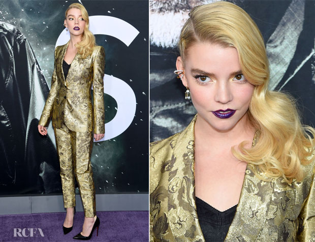 Fashion Blogger Catherine Kallon features Anya Taylor-Joy In Dolce & Gabbana - 'Glass' New York Premiere