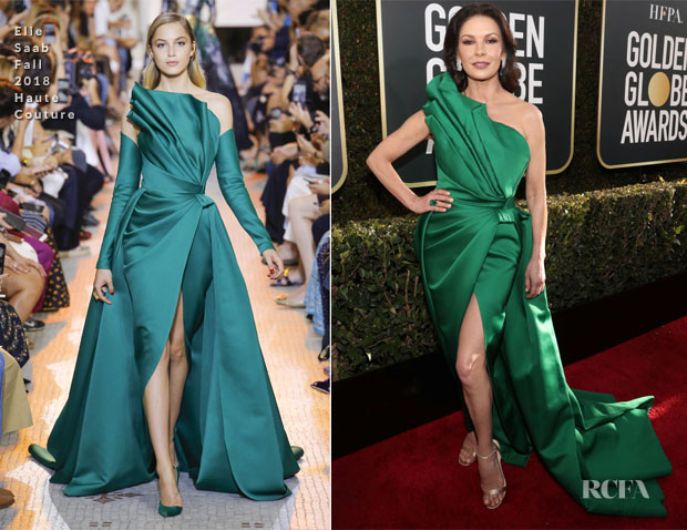 Fashion Blogger Catherine Kallon features Catherine Zeta-Jones In Elie Saab Haute Couture - 2019 Golden Globe Awards