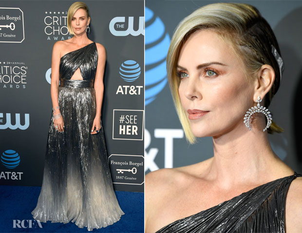 Fashion Blogger Catherine Kallon features Charlize Theron In Givenchy - 2019 Critics Choice Awards