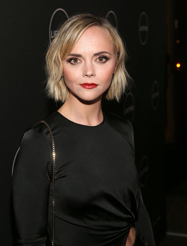 Fashion Blogger Catherine Kallon features Christina Ricci In Cushnie & Adeam - Lifetime Winter Movies Mixer
