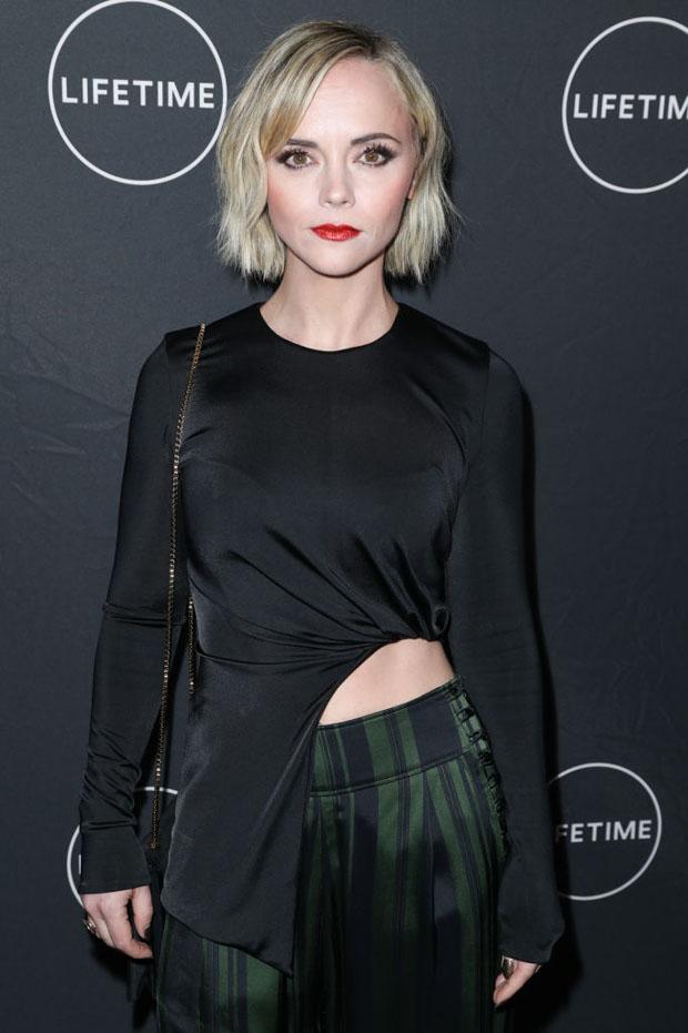 Fashion Blogger Catherine Kallon features Christina Ricci In Cushnie & Adeam - Lifetime Winter Movies Mixer