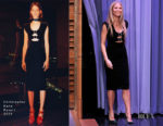 Fashion Blogger Catherine Kallon features Gwyneth Paltrow In Christopher Kane - The Tonight Show Starring Jimmy Fallon