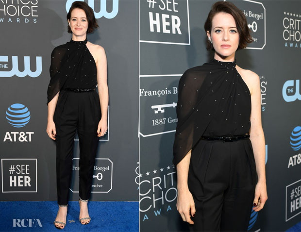 Fashion Blogger Catherine Kallon features Claire Foy In Celine - 2019 Critics' Choice Awards