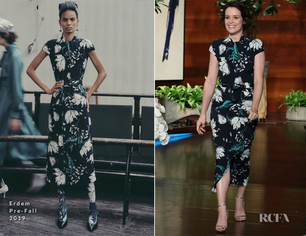 Fashion Blogger Catherine Kallon features  Claire Foy In Erdem - The Ellen DeGeneres