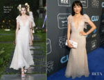 Fashion Blogger Catherine Kallon features Constance Wu In Rodarte - 2019 Critics' Choice Awards