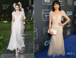 Fashion Blogger Catherine Kallon features Constance Wu In Rodarte - 2019 Critics' Choice Awards