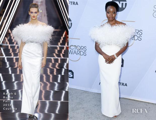 Fashion Blogger Catherine Kallon features Danai Gurira In Ralph & Russo Couture - 2019 SAG Awards