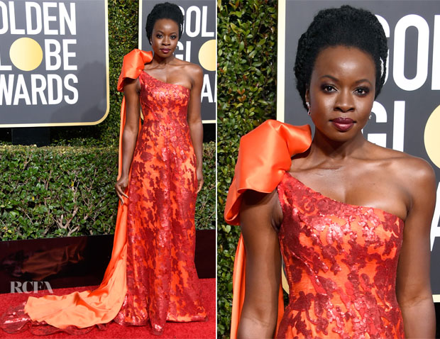 Fashion Blogger Catherine Kallon features Danai Gurira In Rodarte - 2019 Golden Globe Awards