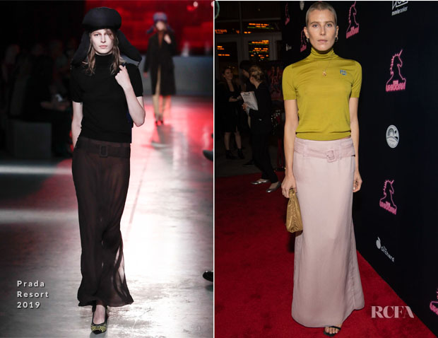 Fashion Blogger Catherine Kallon features Dree Hemingway In Prada -  'The Unicorn' LA Premiere