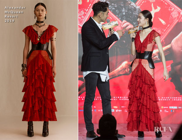 Fashion Blogger Catherine Kallon features Elane Zhong Chuxi In Alexander McQueen - 'The Knight of Shadows: Between Yin and Yang' Promotion