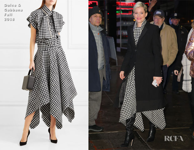 Fashion Blogger Catherine Kallon features Elizabeth Banks In Dolce & Gabbana - Good Morning America