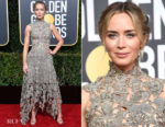 Fashion Blogger Catherine Kallon features Emily Blunt In Alexander McQueen - 2019 Golden Globe Awards