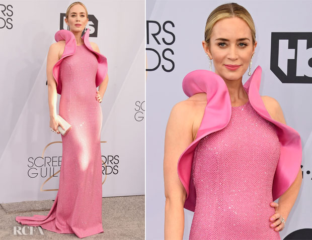 Fashion Blogger Catherine Kallon features Emily Blunt In Michael Kors Collection - 2019 SAG Awards