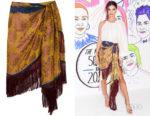 Emily Ratajkowski's Oscar de la Renta Wrap-Effect Skirt
