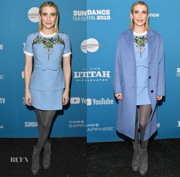 Emma Roberts In Zimmermann Drome Prada Imdb Studio Paradise