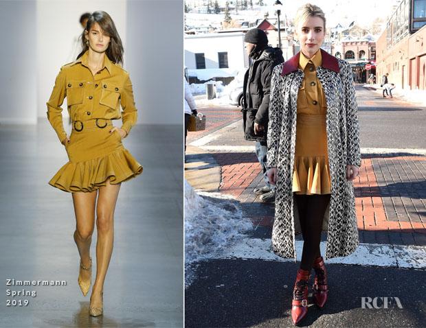 Emma Roberts In Zimmermann Drome Prada Imdb Studio Paradise Hills Sundance Film Festival Premiere Red Carpet Fashion Awards