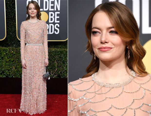 Fashion Blogger Catherine Kallon features Emma Stone In Louis Vuitton - 2019 Golden Globe Awards