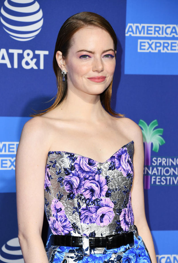 Fashion Blogger Catherine Kallon features Emma Stone In Louis Vuitton - 2019 Palm Springs International Film Festival Gala