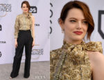 Fashion Blogger Catherine Kallon features Emma Stone In Louis Vuitton - 2019 SAG Awards