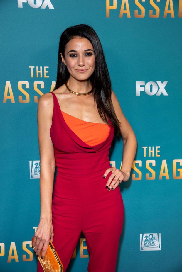 Fashion Blogger Catherine Kallon features Emmanuelle Chriqui In Cushnie - FOX's 'The Passage' Premiere Party