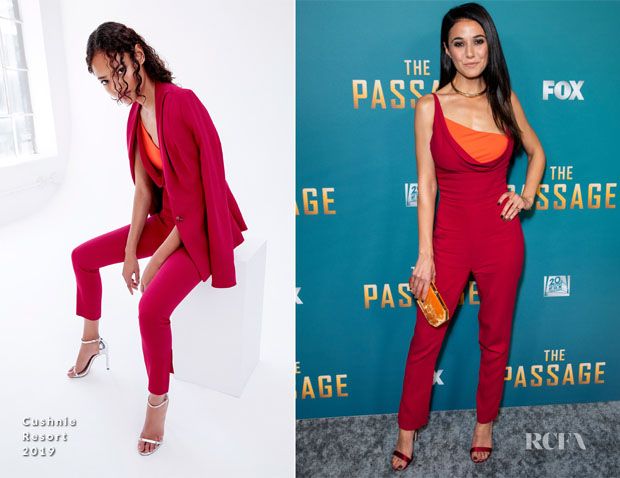 Fashion Blogger Catherine Kallon features Emmanuelle Chriqui In Cushnie - FOX's 'The Passage' Premiere Party