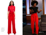 Fashion Blogger Catherine Kallon features Viola Davis In Alice + Olivia - Jimmy Kimmel Live!