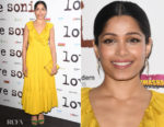 Fashion Blogger Catherine Kallon features Frieda Pinto In Kate Spade New York - Love Sonia' London Premiere
