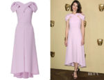 Gemma Arterton's Delpozo Asymmetric Cutout Crepe Dress