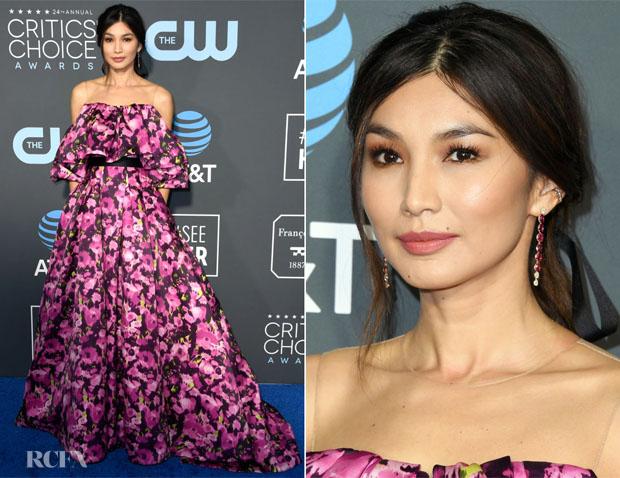 Fashion Blogger Catherine Kallon features Gemma Chan In Jason Wu Collection - 2019 Critics' Choice Awards