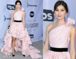 Fashion Blogger Catherine Kallon features Gemma Chan In Oscar de la Renta - 2019 SAG Awards