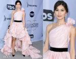 Fashion Blogger Catherine Kallon features Gemma Chan In Oscar de la Renta - 2019 SAG Awards