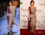 Fashion Blogger Catherine Kallon features Gemma Chan In Prabal Gurung - BAFTA Los Angeles Tea Party