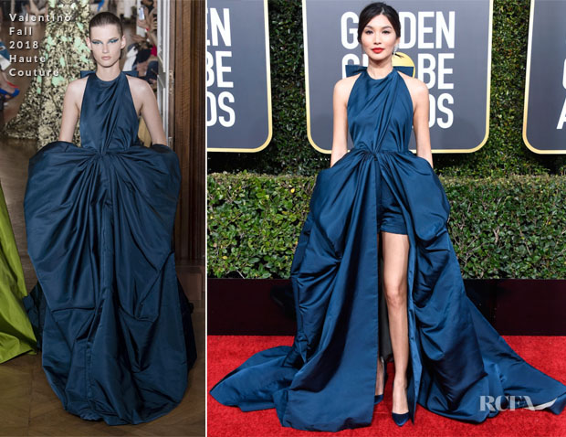 Fashion Blogger Catherine Kallon features Gemma Chan In Valentino Haute Couture - 2019 Golden Globe Awards