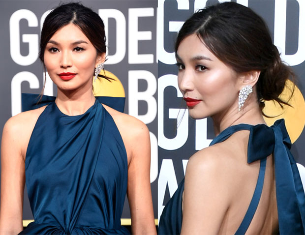Fashion Blogger Catherine Kallon features Gemma Chan Shines in Classic Beauty Look at 2019 Golden Globes