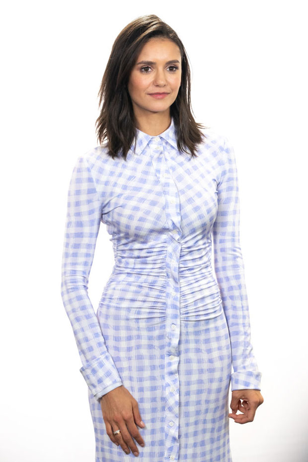 Fashion Blogger Catherine Kallon features Nina Dobrev In Altuzarra Visits The IMDb Show