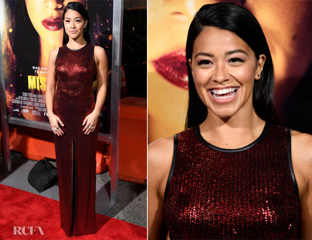 Fashion Blogger Catherine Kallon features Gina Rodriguez In Star by Julien Macdonald - 'Miss Bala' LA Premiere