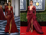 Fashion Blogger Catherine Kallon features Halle Berry In Zuhair Murad Couture - 2019 Golden Globe Awards