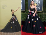 Fashion Blogger Catherine Kallon features Heidi Klum In Monique Lhuillier - 2019 Golden Globe Awards