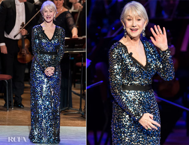 Fashion Blogger Catherine Kallon features Helen Mirren In Escada - 162nd Academy Of Music Anniversary Concert & Ball