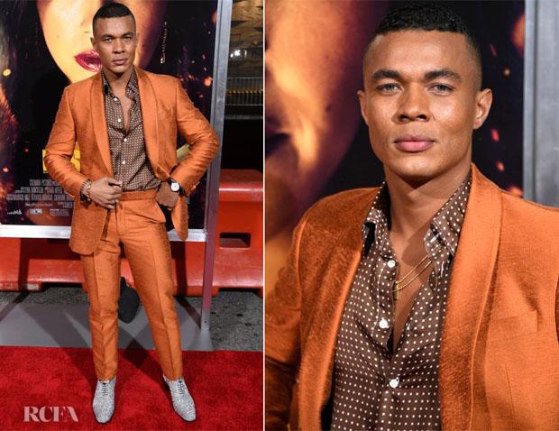 Fashion Blogger Catherine Kallon Features Ismael Cruz Córdova In Richard James - 'Miss Bala' LA Premiere