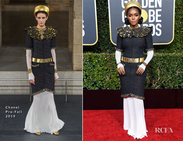 Fashion Blogger Catherine Kallon features Janelle Monae In Chanel - 2019 Golden Globe Awards